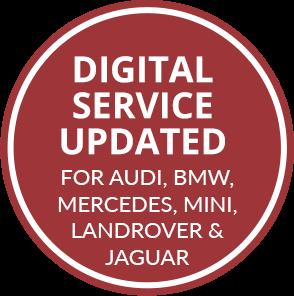 DIGITAL SERVICE UPDATED FOR Audi, BMW, Mercedes, MINI, Landrover & Jaguar